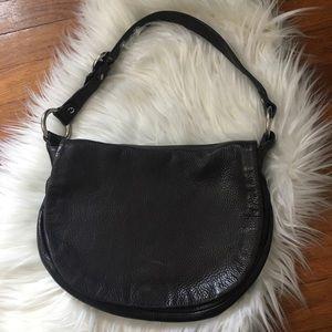 COACH | Black Leather Shoulder Bag Flap